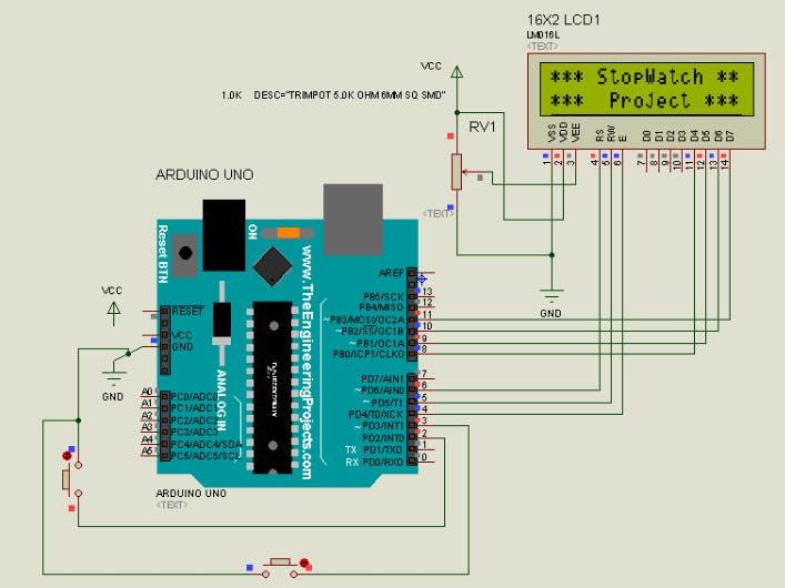Pleasing Stopwatch Using Arduino Hackster Io Wiring Database Ittabxeroyuccorg