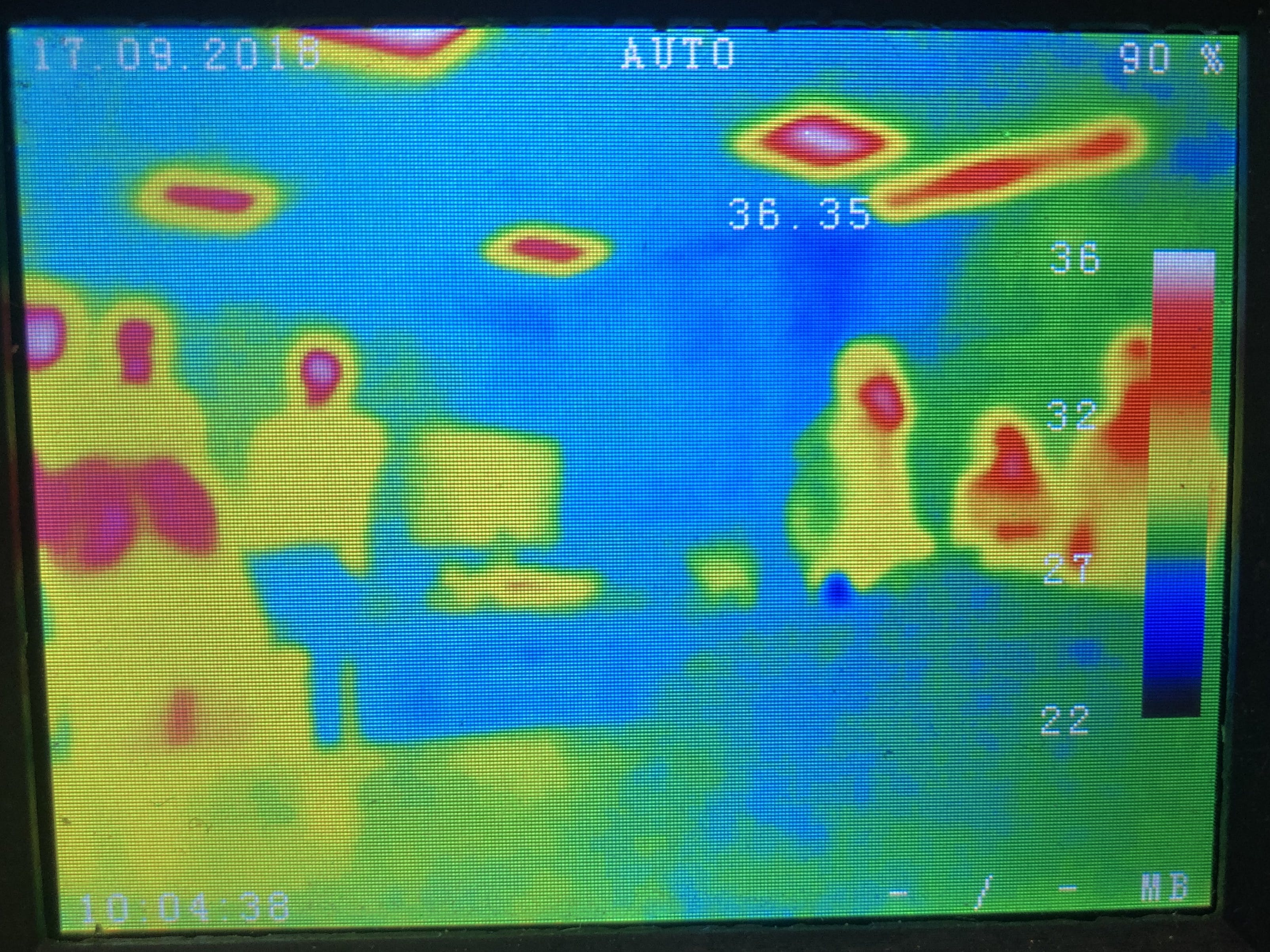 A thermal image of our classroom.
