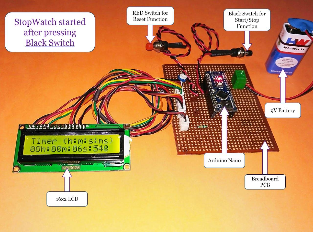 Surprising Stopwatch Using Arduino Hackster Io Wiring Database Ittabxeroyuccorg