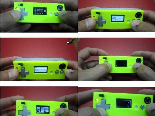 Arduboy Clone with Arduino Nano and I2C OLED display