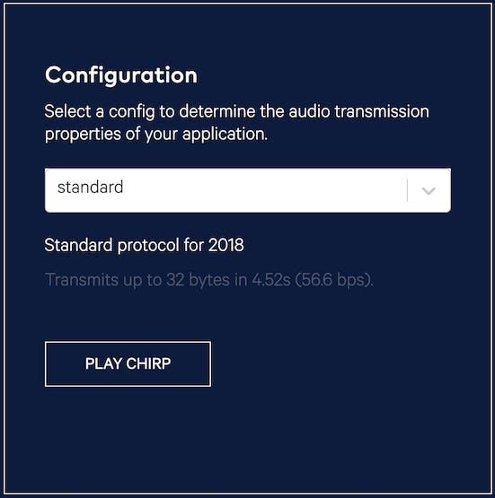 Audio transmission menu