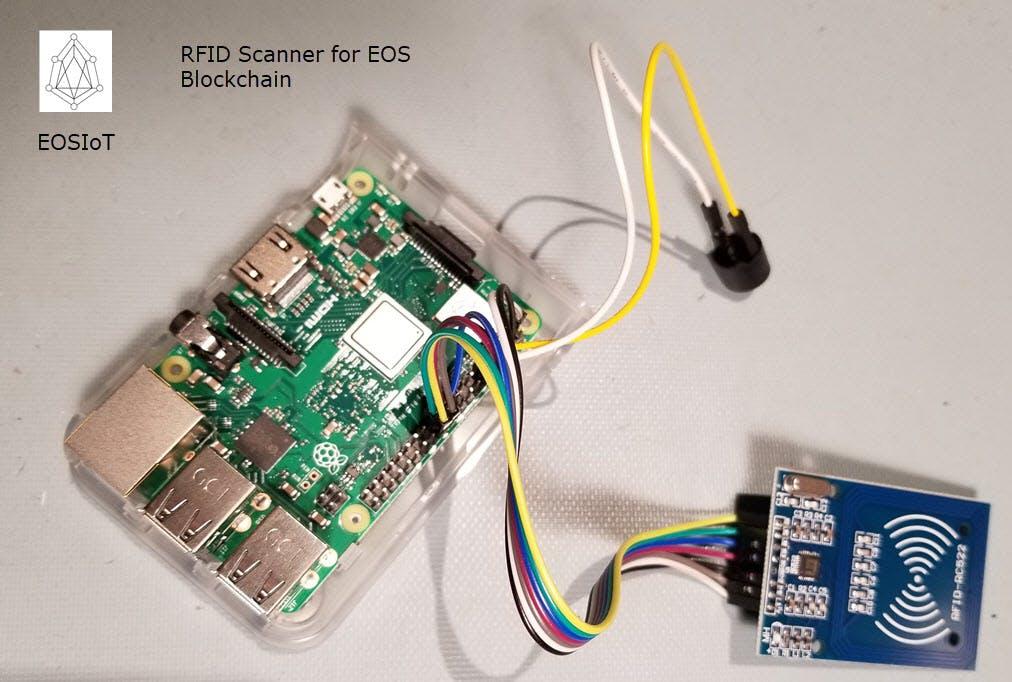Raspberry Pi - based RFID scanner for EOS blockchain
