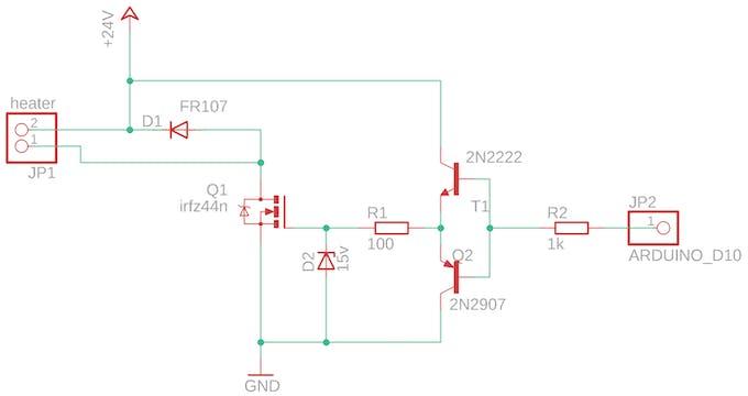 The heater schematics