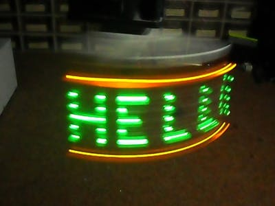 Arduino Horizontal POV Display