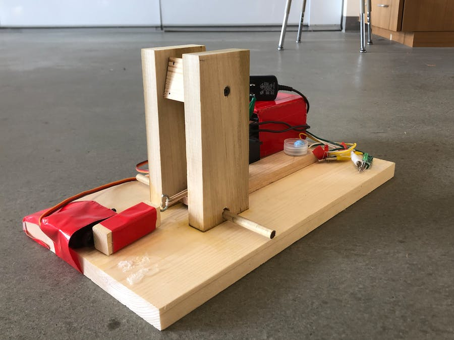 Web Connected Servo Powered Catapult
