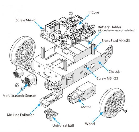 mBot components