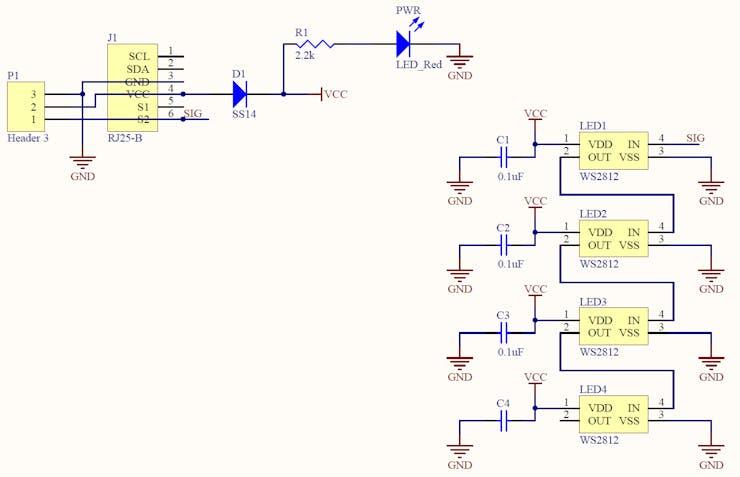 Makeblock RGB LED module circuit