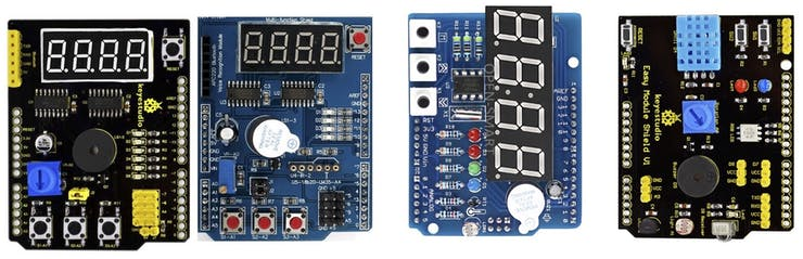 Multifunction Arduino shields