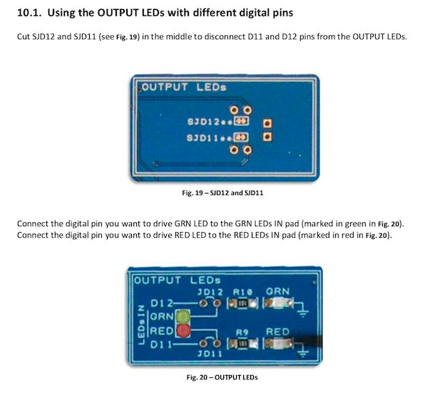 Disconnect Protoshield Plus LEDs to use the D11 and D12 ports