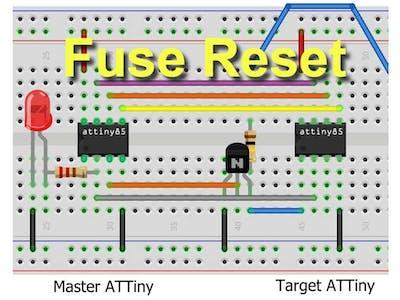 ATtiny85 Powered High Voltage AVR Programmer