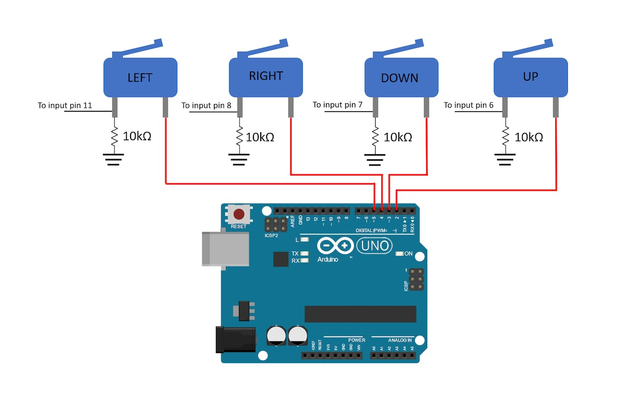 [DIAGRAM_38ZD]  4-Way Joystick Control - Arduino Project Hub | Wiring 3 Way Light Switch Diagram Motor Control With Arduino |  | Arduino Create