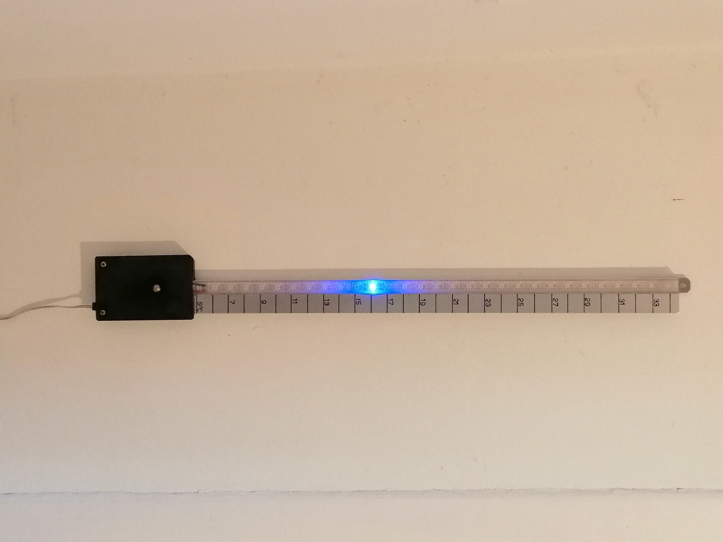 How to Make a Supersize Thermometer with an RGB LED Strip