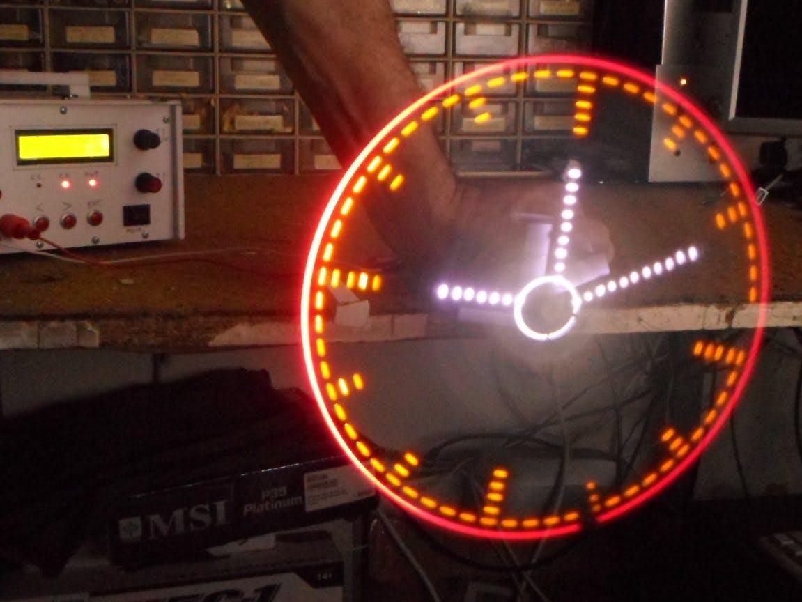 Analog Style LED POV Clock
