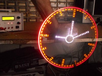 Analog Style LED POV Clock