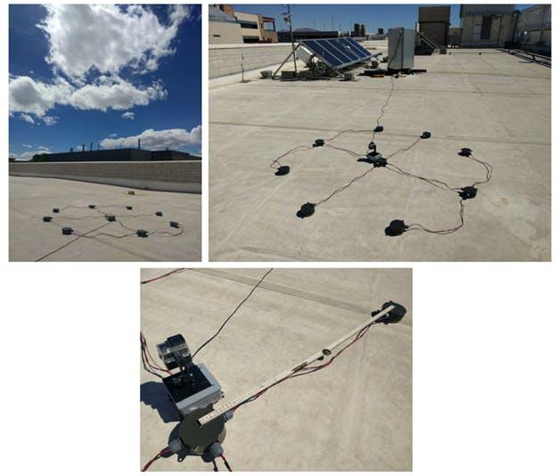 CMV System setup on building rooftop