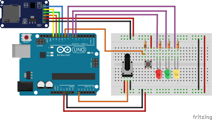 Data Collection System with SD Card and Arduino - Arduino