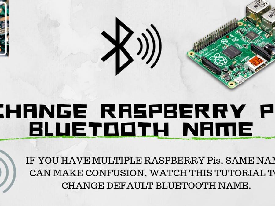 How to Change Pi Bluetooth Name?