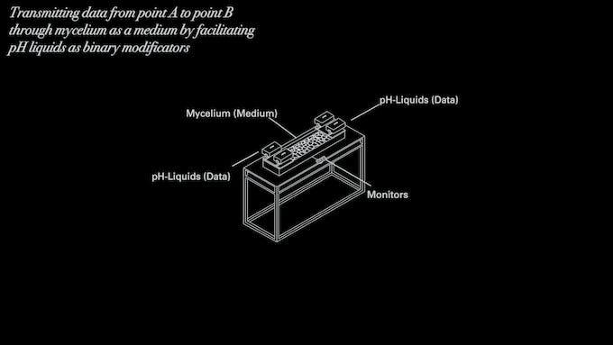 Simplified schematics of the machine