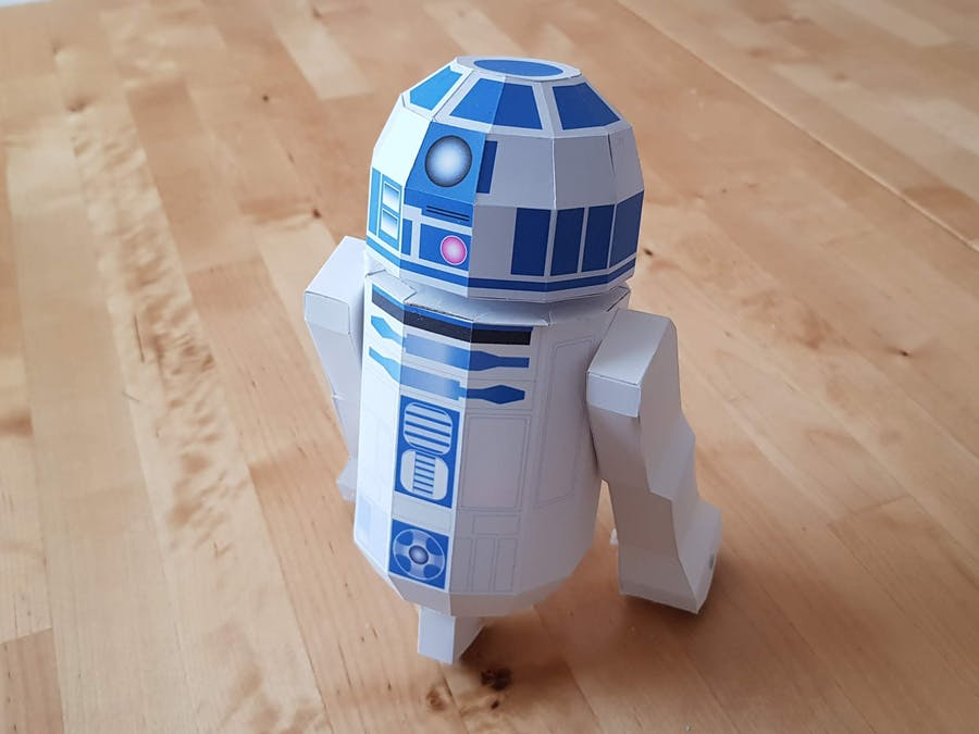 Star Wars R2-D2 Made Out of Paper