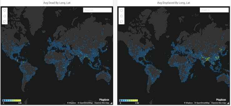 A map of flood data in the world