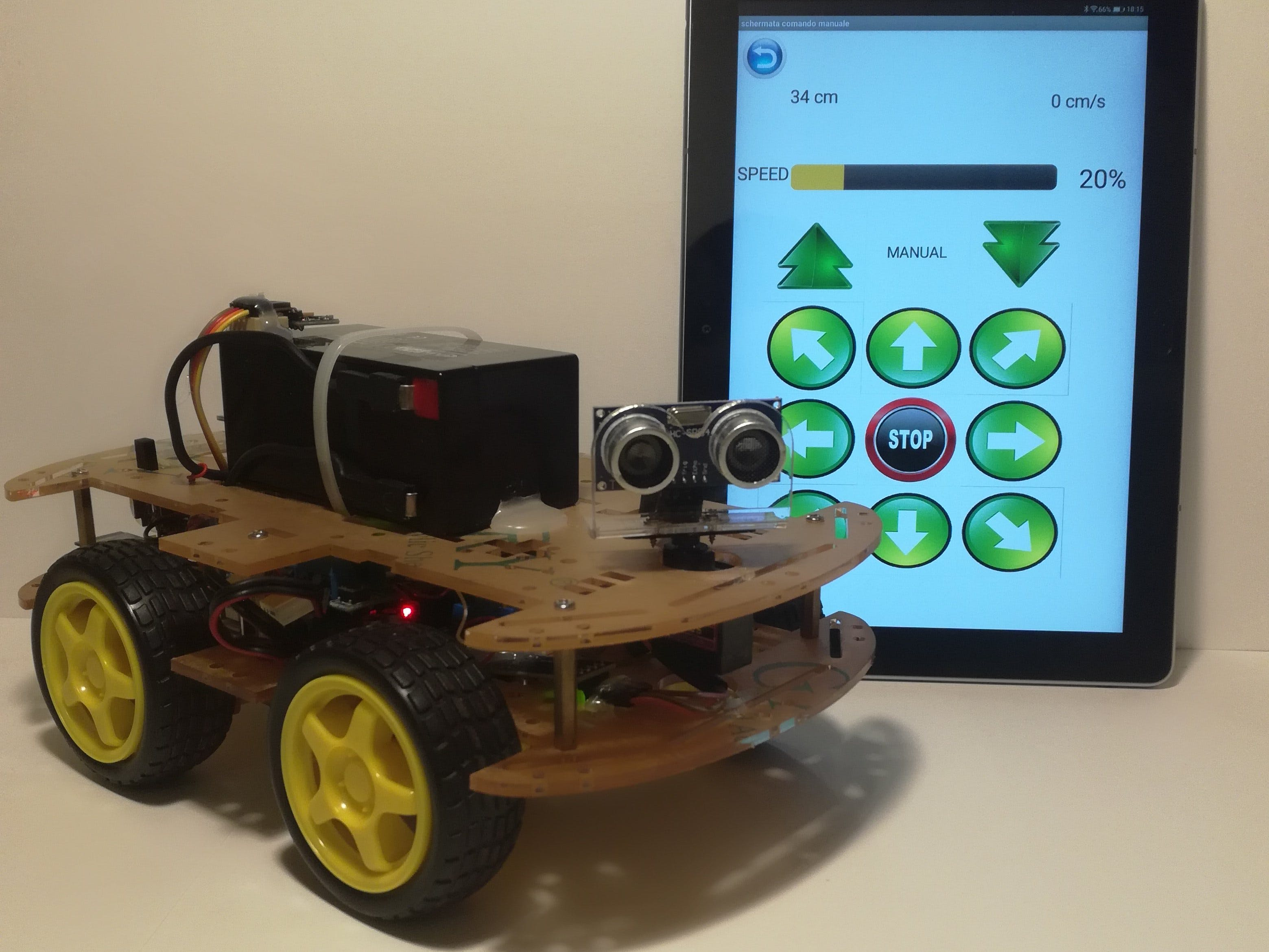 Bluetooth controlled car with arduino mega