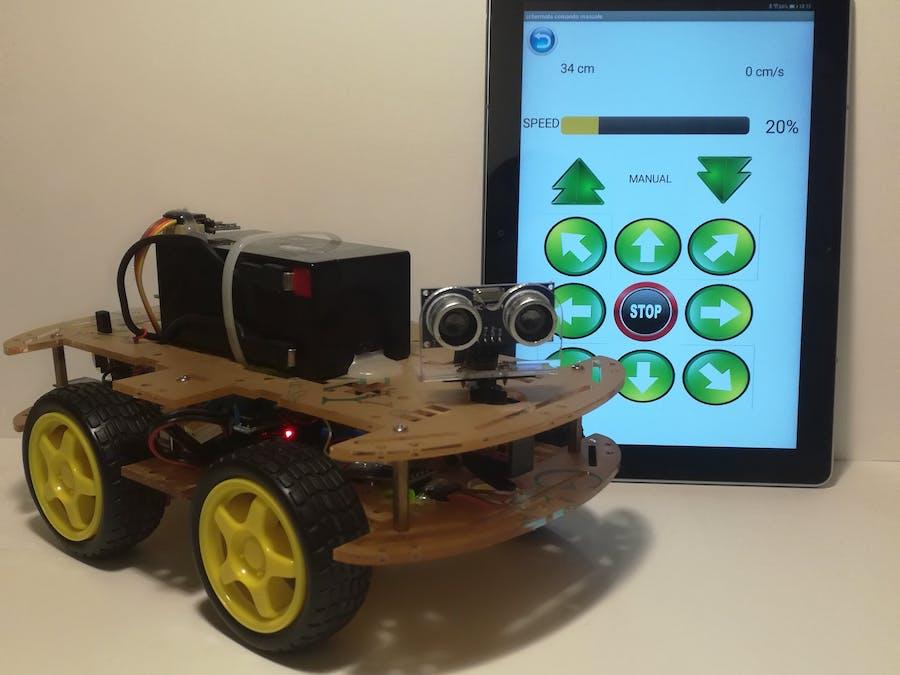 Bluetooth controlled car with arduino mega