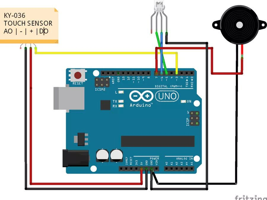 Touch Sensor Switch Using The KY-036