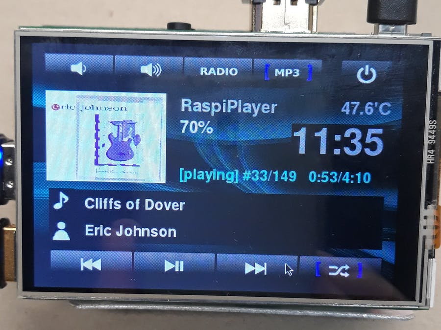 RaspiPlayer - Internet Radio and MP3 Player Rev2