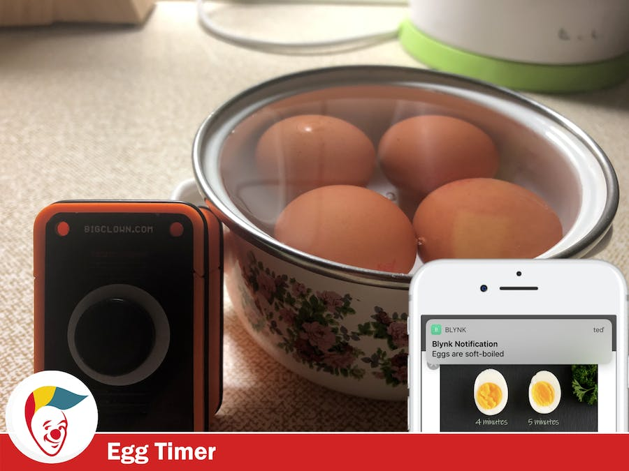 Egg Timer with a Button Kit