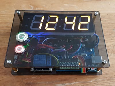 4-Digit 7-Segment Counter with LiPo Backup