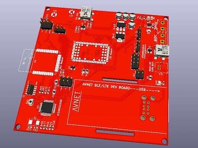 AVNET_BLE_LTE Devellopment board
