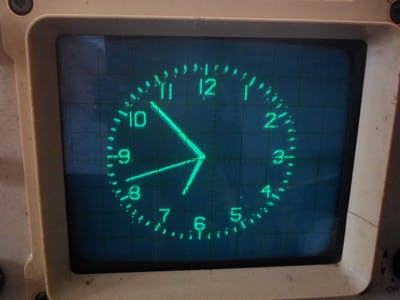 Extremely Simple Oscilloscope Clock with ESP32