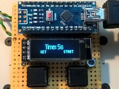 Timer for UV light box
