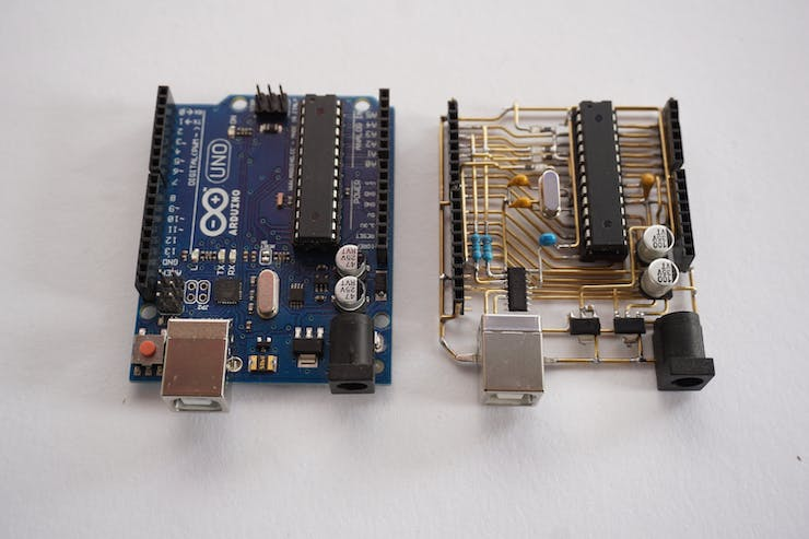 Comparison to original Arduino UNO R3