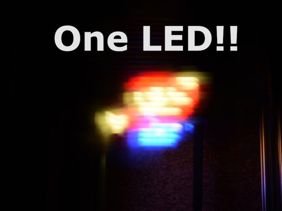 Creating Images Using One LED