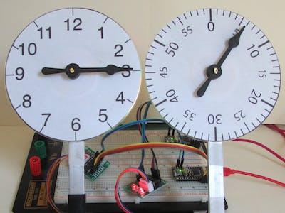 Arduino nano stepper motor clock