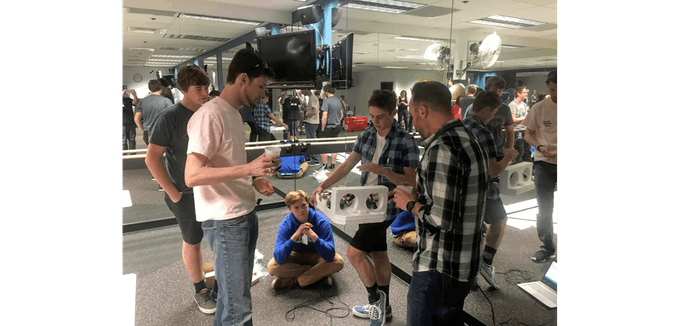 Talking our design through with Lockheed Engineers