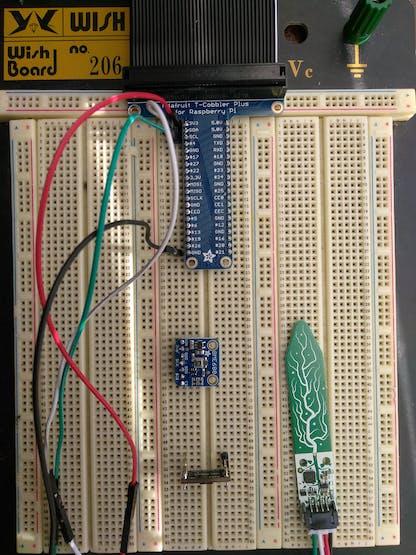 All Three Sensors: BME680 left, Soil right, VL53L1X bottom