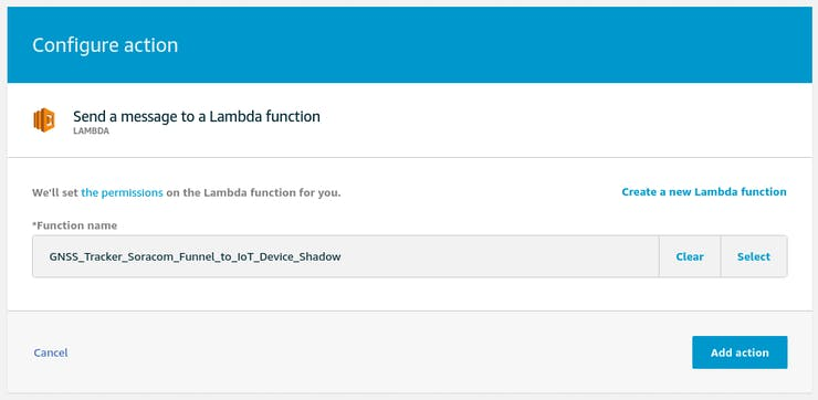 AWS IoT - Funnel to Device Shadow - send to Lambda function