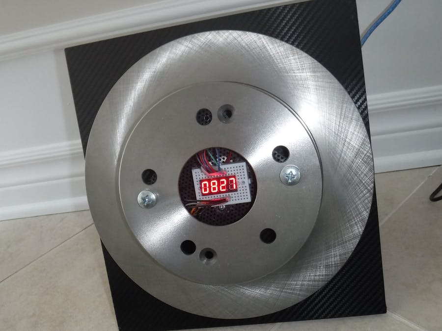 Arduino Brake Rotor Clock