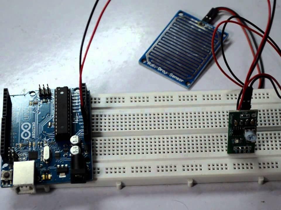 rain drop sensing system arduino project hubrain drop sensing system