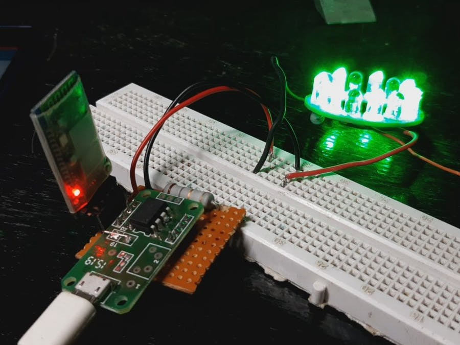 ATtiny85 with HC-05 Bluetooth Module