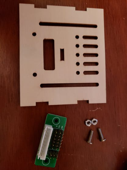 gather extension interface, roof and screws (M3*10 Phillips screws and nuts)