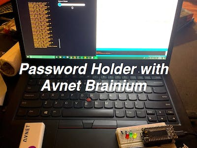 Password Holder with Avnet Brainium