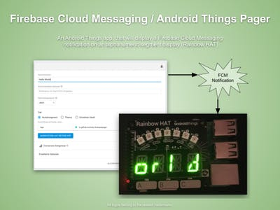 Firebase Cloud Messaging / Android Things Pager