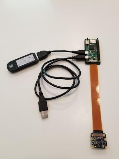 Pi Zero W, Pi Camera, Huawei cellular modem