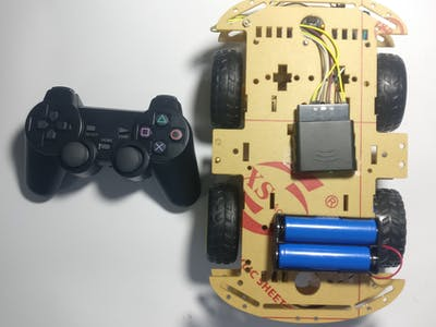 How to Control a Robotic Car by PS2 Wireless Remote