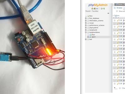 Arduino Sending Sensor Data to MySQL Server (PHPMYADMIN)