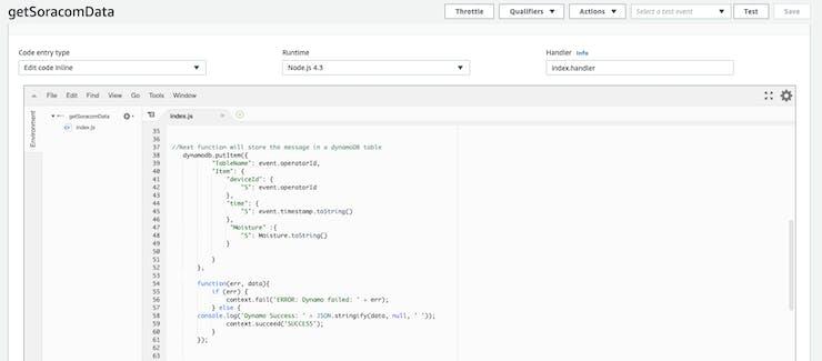 AWS Lambda Function parsing data to DynamoDB