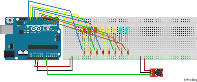 Breadboard View of project